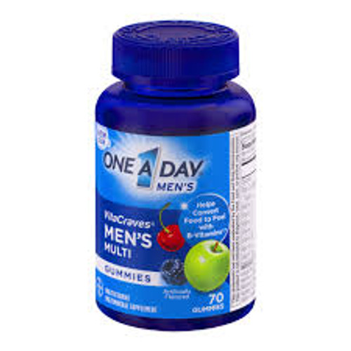 One A Day VitaCraves Men's Multivitamins Gummies, 70 ct, 1 Ea