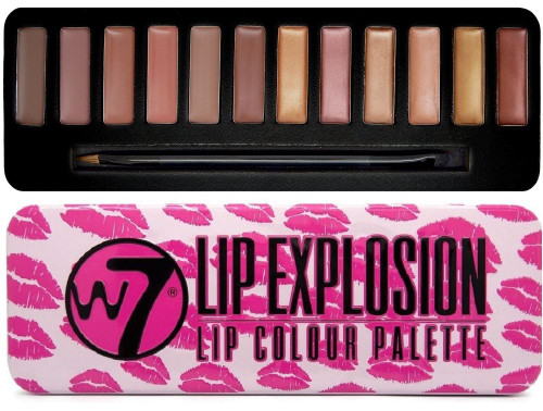 W7 Lip Explosion Lip Colour Palette, 12 Shade Lip Kit, 1 Ea