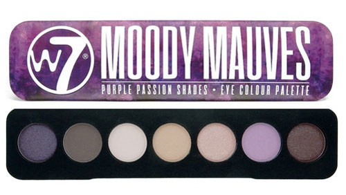 W7 Moody Mauves Purple Passion Shades, 7 Eye Colour Palette Tin, 1 Ea