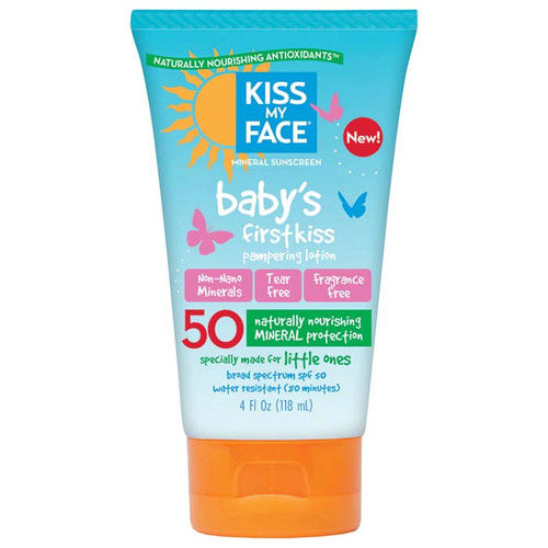 Kiss My Face Baby Sunscreen First Kiss Lotion SPF 50, 4 Oz