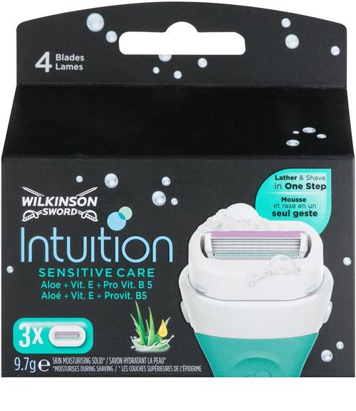 Wilkinson Sword Intuition Sensitive Care Refill Cartridges, 3 ct