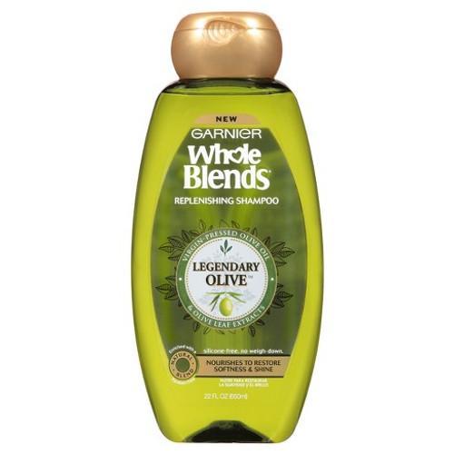 Garnier Whole Blends Olive Oils Replenishing Shampoo, 22 oz, 1 Ea