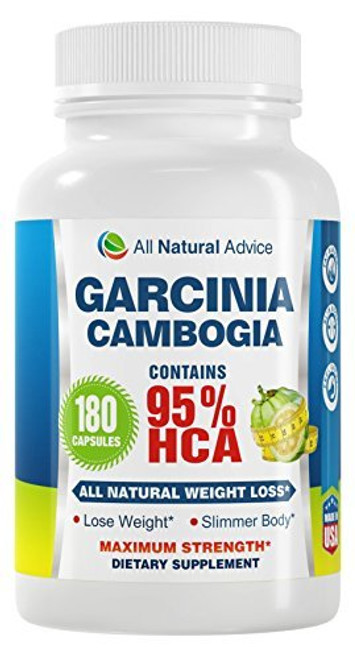All Natural Advice Garcinia Cambogia with 95% HCA Capsules, 180 ct