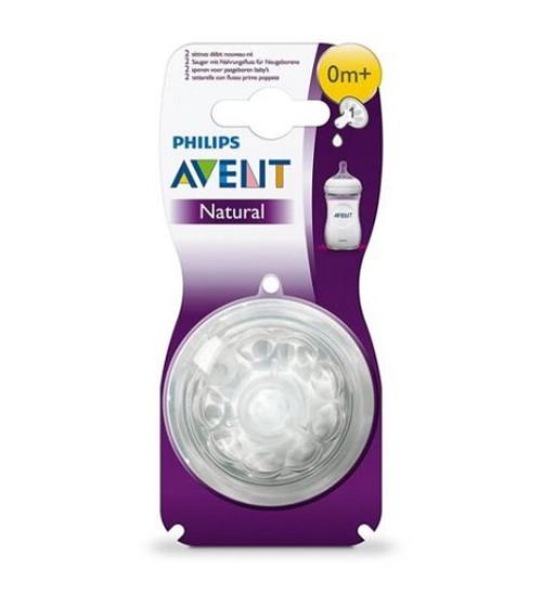 Phillips Avent Natural Newborn Flow BPA Free Bottle Nipples,  0M+, 2 ct