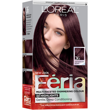 L Oreal Paris Feria Multi Faceted Shimmering Colour Permanent Haircolor Kit 36 Deep