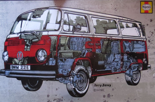 VW Camper Haynes Campervan-Volkswagen- Poster-Laminated available-90cm x 60cm-Brand New