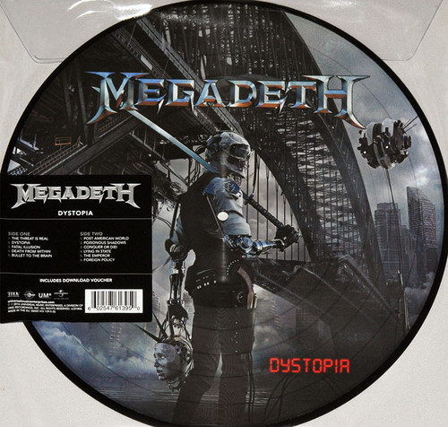 MEGADETH-DYSTOPIA-Picture Disc Vinyl LP-Brand New-Still Sealed