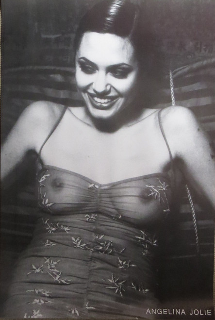 Angelina Jolie-See Thru Top-Poster-Laminated Available-90cm x 60cm-Brand New