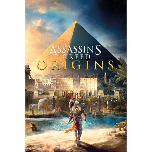 Assassin's Creed: Origins -Game Cover Gaming Poster-Laminated Available-90cm x 60cm