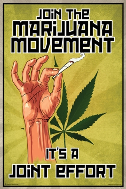 Marihuana / Joint Effort Poster-Laminated available -90cm x 60cm
