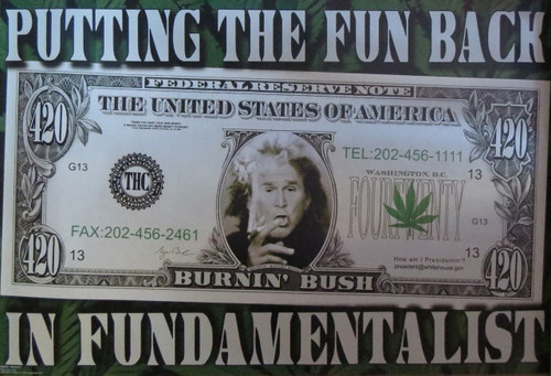George W Bush-Fun Back In Fundamentalist- Poster-Laminated available-90cm x 60cm-Brand New