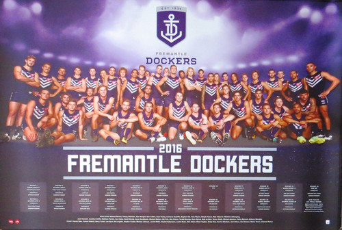 AFL - 2016 Team Poster-Laminated availables Fremantle Dockers-Poster-Laminated available-91cm x 61cm-Brand New