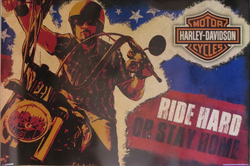 Harley Davidson Ride Hard -Poster-Laminated available-90cm x 60cm-Brand New