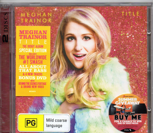 MEGHAN TRAINOR-Thank You (SuperDeluxe Edition-Bonus DVD) CD-Brand New-Still Sealed