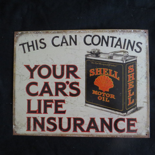 Shell - Life Insurance  - 40 x 32 cm-Retro Rustic Metal Tin Sign Man cave