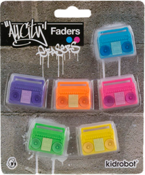 All City Breakers - Boombox Erasers 6-Pack-KIDT11LS002