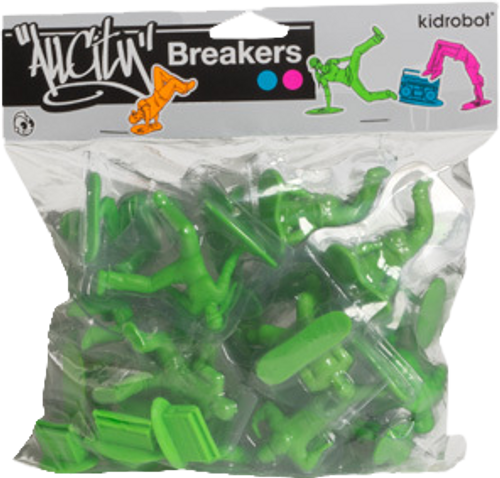 All City Breakers - Mini Vinyl Electric Green 20-Pack-KIDT11UT005
