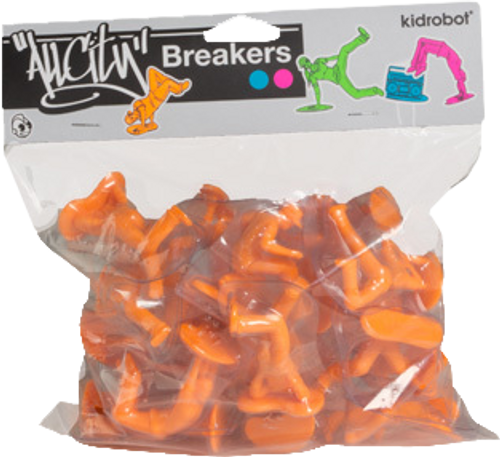 All City Breakers - Mini Vinyl Electric Orange 20-Pack-KIDT11UT006