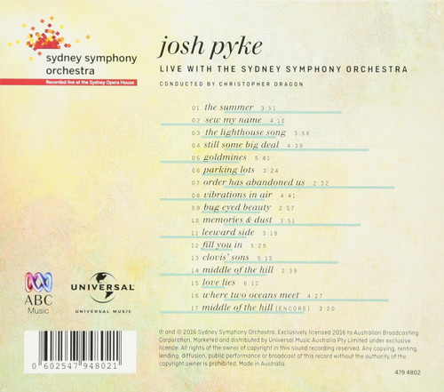 JOSH PYKE & SYDNEY SYMPHONY ORCHESTRA-Live at the Sydney Opera House-CD-Brand New/Still sealed