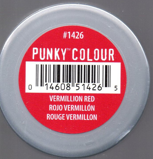 Punky Colour-VERMILLION RED-100ml HAIR DYE Jerome Russell- New/Sealed-Punk