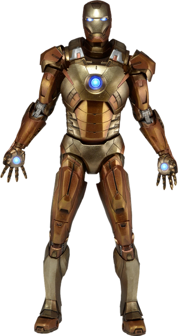 "Avengers - Iron Man Mark XXI Gold 18"" 1:4 Scale Action Figure-NEC61224"