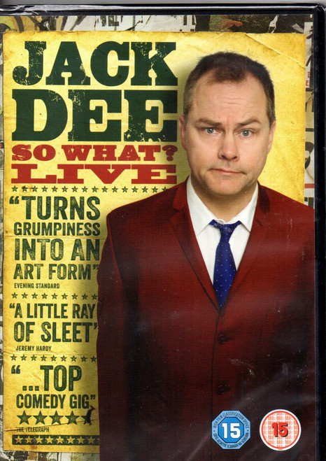 Jack Dee: So What? (Live 2013) DVD - Region 4 -Brand New