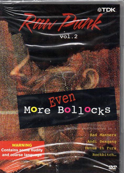 Raw Punk-Volume. 2-Even More Bollocks DVD-Region Free-Brand New-Still Sealed