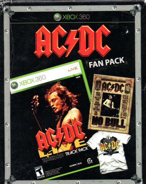 AC/DC-Black Ice Fan Pack-DVD-XBOX 360 Game + T-Shirt-Brand New-Still Sealed