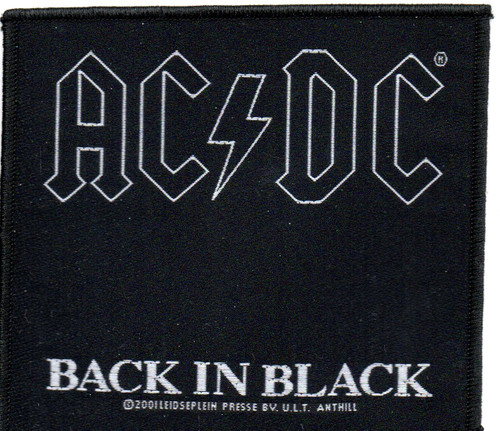 AC/DC-Back In Black-Official Sew On Woven Patch