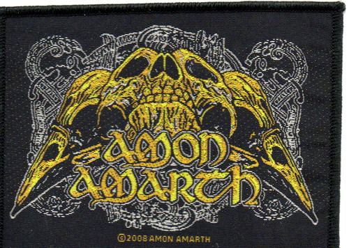 AMON AMARTH RAVEN SKULL-Official Sew On Woven Patch