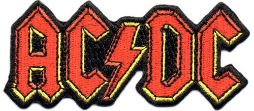 AC/DC-Shaped Logo Embroidered Patch-Official Sew On/Iron-On Embroidered Patch