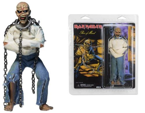 """Iron Maiden - Piece of Mind Clothed 8"""" Action Figure-NEC14921"""