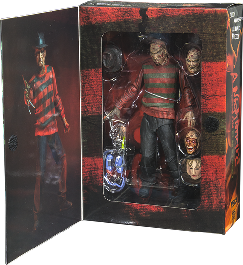 """A Nightmare on Elm St - 7"""" Freddy 30th Anniversary Action Figure-NEC39759"""