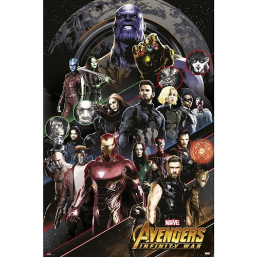 Avengers: Infinity War-All Characters-Poster 61cm x 91cm-LAMINATED Available-P5901