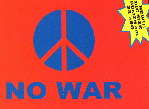 No War Peace Sign-Textile Fabric Poster Flag-80cm x 125cm-Brand New