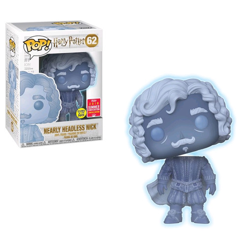 Harry Potter - Nearly Headless Nick Glow SDCC 2018 US Exclusive Pop! Vinyl [RS]-FUN31273