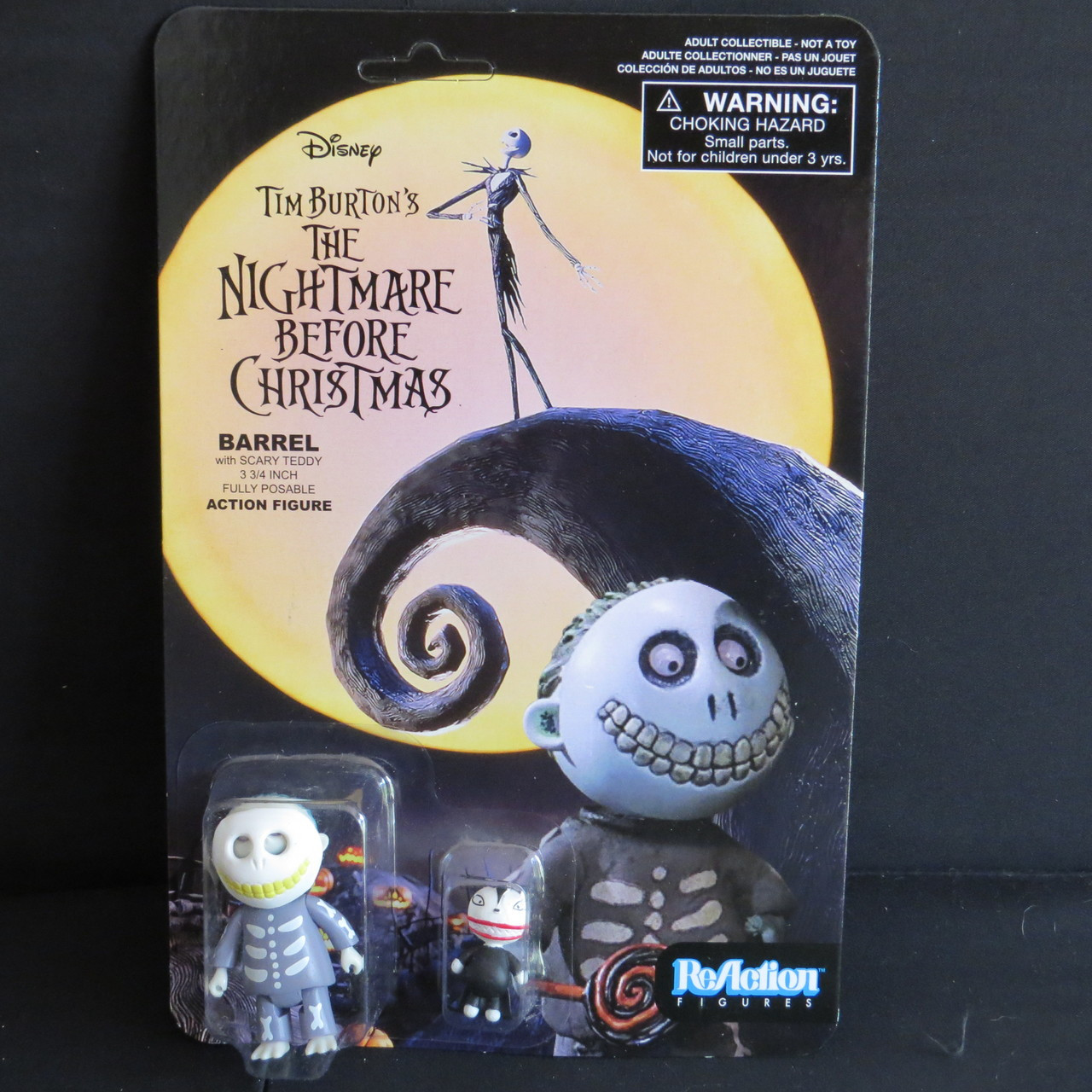 Nightmare Before Christmas NBX - Barrel-3 3/4 Inch ReAction Figure ...