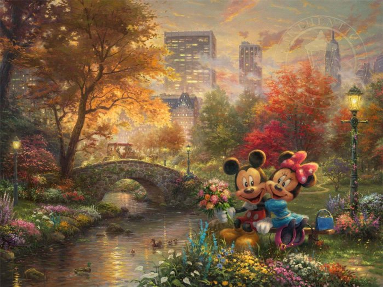 Mickey And Minnie Sweetheart Central Park By Thomas