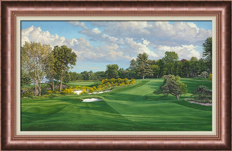 Merion Golf Club 16th Hole, East Course - Canvas Framed - Ashley\'s ...