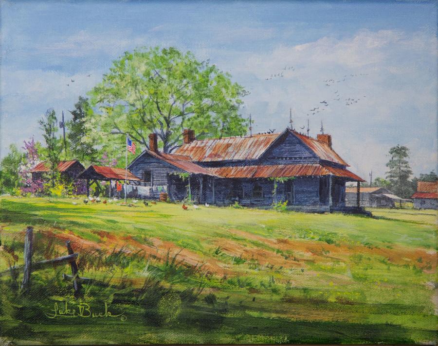 Yates Mill Painting By Luke Buck
