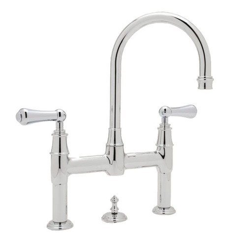 Perrin & Rowe 3708 Three Hole Mixer Tap, Lever Handles