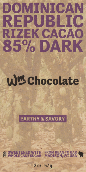 Dominican Republic, Rizek Cacao - 85% Dark Bar
