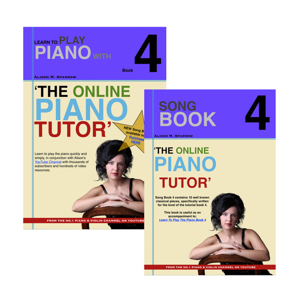 *COMBO DEAL*   Learn To Play The Piano Book 4 AND Song Book 4   (Download Only)