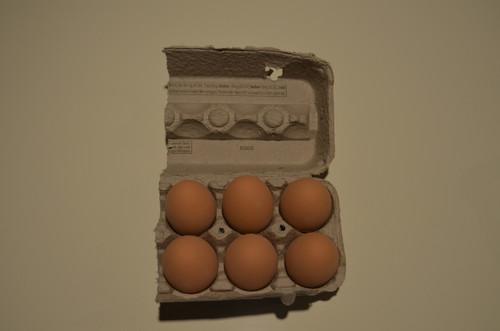 6 -  Brown Ceramic Nest Eggs in Grade A Large 1/2 Carton