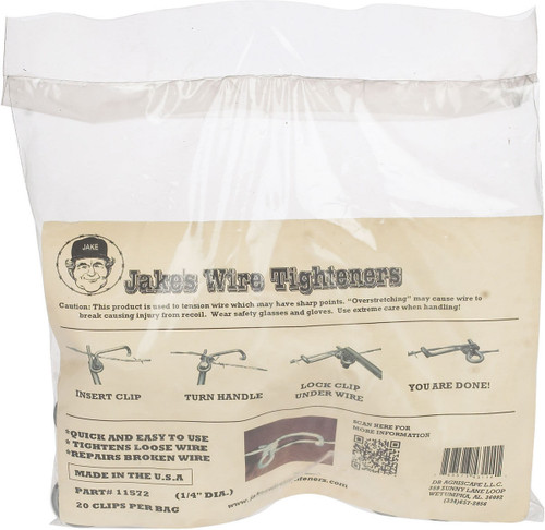 "Jakes Wire Tighteners 1/4"" Pack of 20"