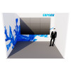 Azure Exhibition Stand - U-Shaped with Video wall or LED wall