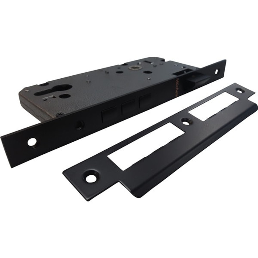 Matte Black Door Handle Entrance I Mucheln Edge Series