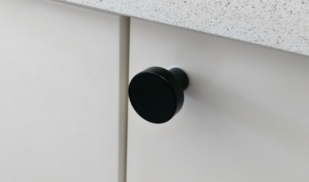 Matte black cupboard finger pull knob cupboard