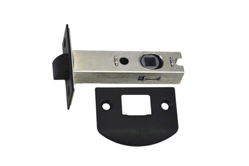 Nidus Tubular latch (double sprung) 60mm backset MATTE BLACK