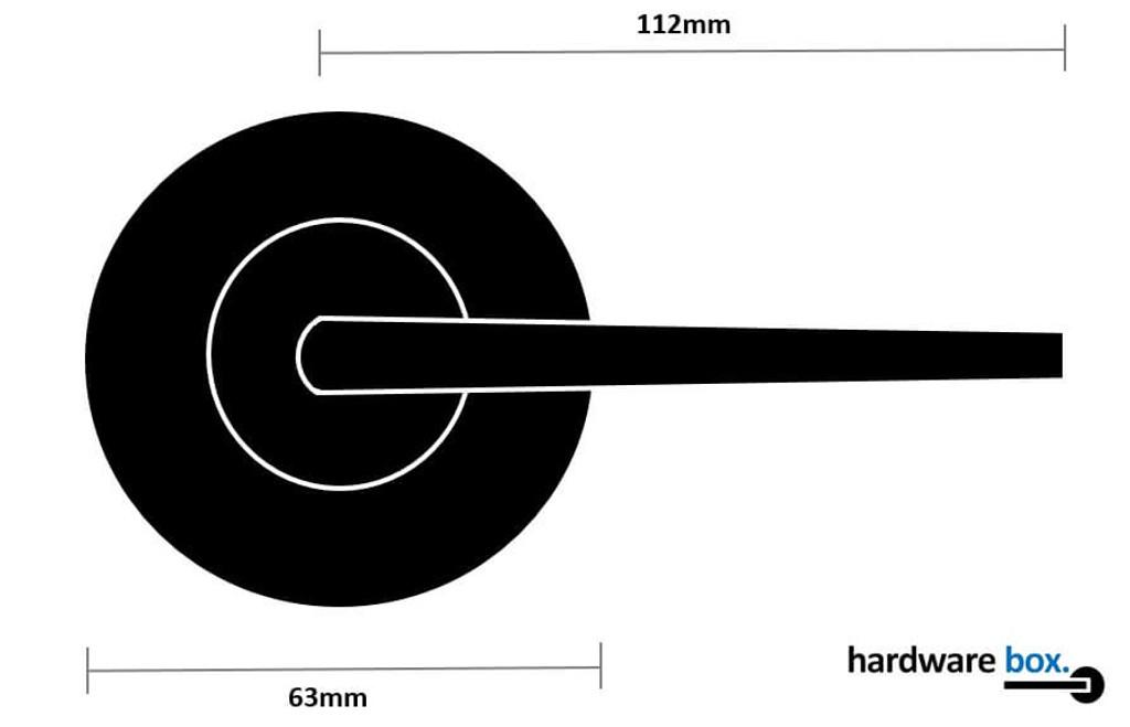 Nidus Black Handle Dimensions round